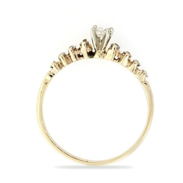 14k Gold Ring with White Diamond.